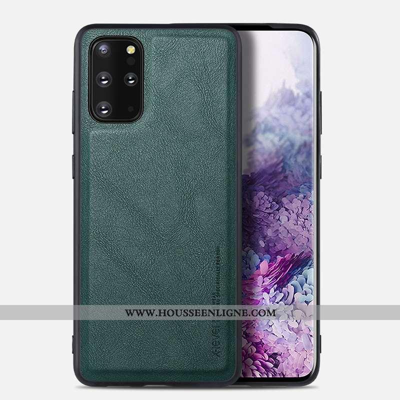 Coque Samsung Galaxy S20+ Protection Ultra Business Cuir Légère Tout Compris Verte