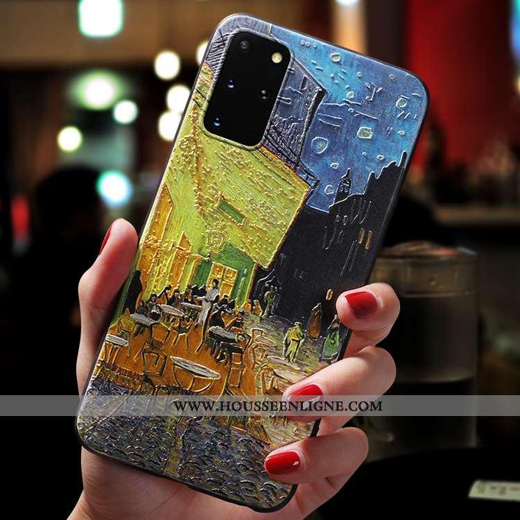 Coque Samsung Galaxy S20+ Silicone Protection Légère Art Incassable Délavé En Daim Fluide Doux Bleu
