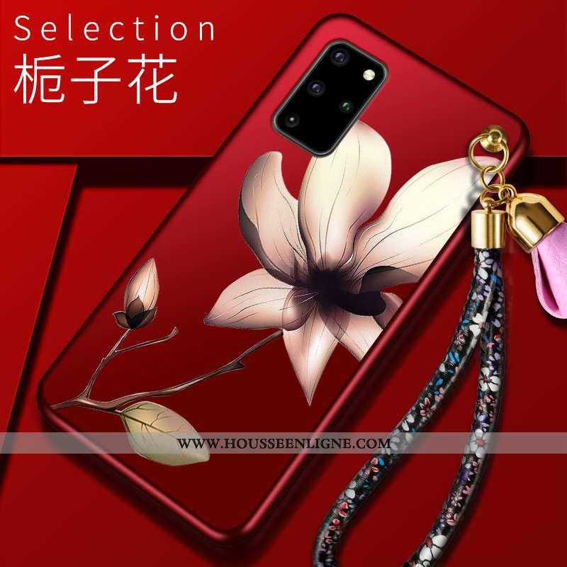 Coque Samsung Galaxy S20+ Tendance Légère Téléphone Portable Étui Rouge Incassable Personnalité