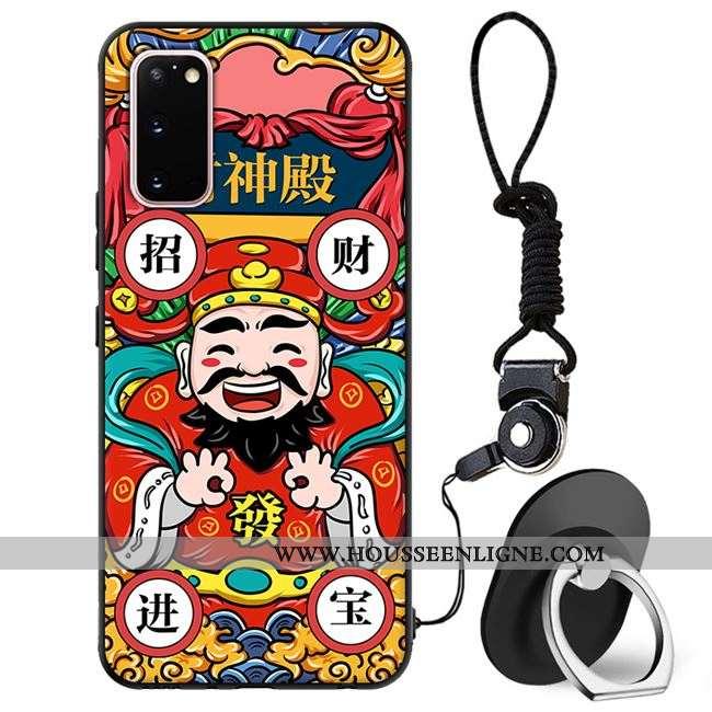 Coque Samsung Galaxy S20 Tendance Protection Téléphone Portable Incassable Étui Tout Compris Rouge