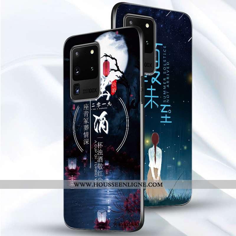 Coque Samsung Galaxy S20 Ultra Fluide Doux Silicone Incassable Net Rouge Tout Compris Protection Ble