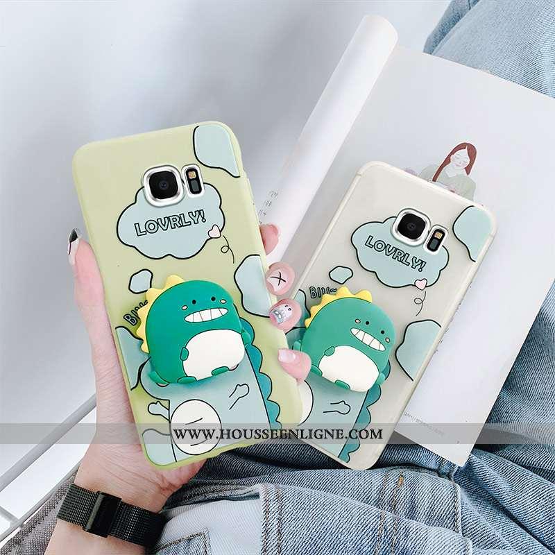 Coque Samsung Galaxy S6 Créatif Dessin Animé Incassable Téléphone Portable Dragon Petit Charmant Ble