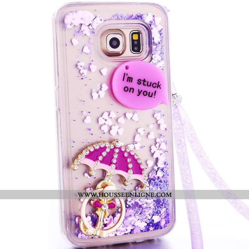 Coque Samsung Galaxy S6 Edge Charmant Cou Suspendu Quicksand Étoile Téléphone Portable Protection De