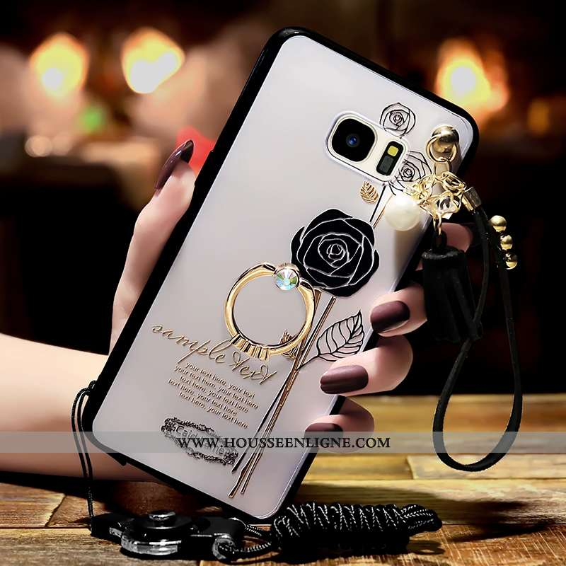 Coque Samsung Galaxy S6 Edge Personnalité Tendance Blanc Étoile Téléphone Portable Blanche