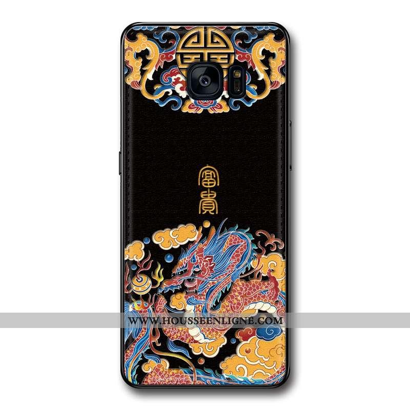 Coque Samsung Galaxy S6 Edge Protection Gaufrage Étoile Téléphone Portable Modèle Fleurie Silicone T
