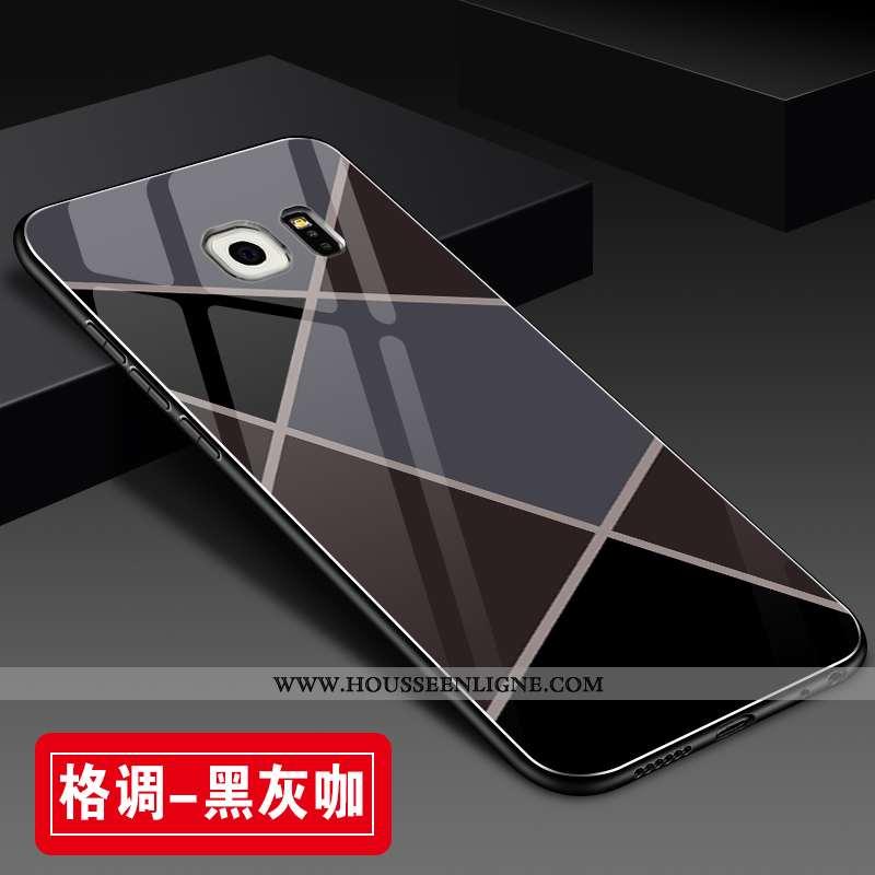 Coque Samsung Galaxy S6 Edge Tendance Fluide Doux Incassable Protection Personnalité Créatif Tout Co