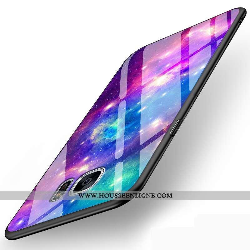 Coque Samsung Galaxy S6 Edge Verre Personnalité Dessin Animé Charmant Créatif Protection Incassable