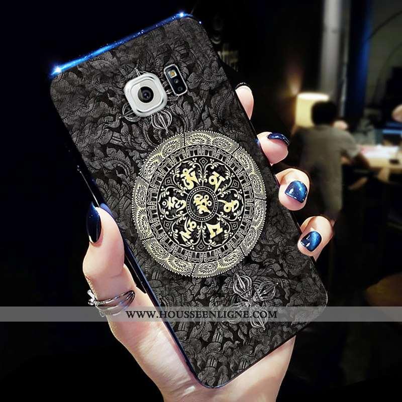 Coque Samsung Galaxy S6 Tendance Fluide Doux Gris Net Rouge Étui Personnalité Créatif
