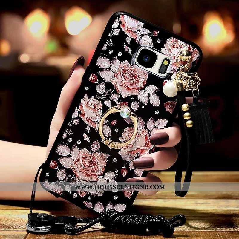 Coque Samsung Galaxy S6 Tendance Personnalité Noir Téléphone Portable Étoile
