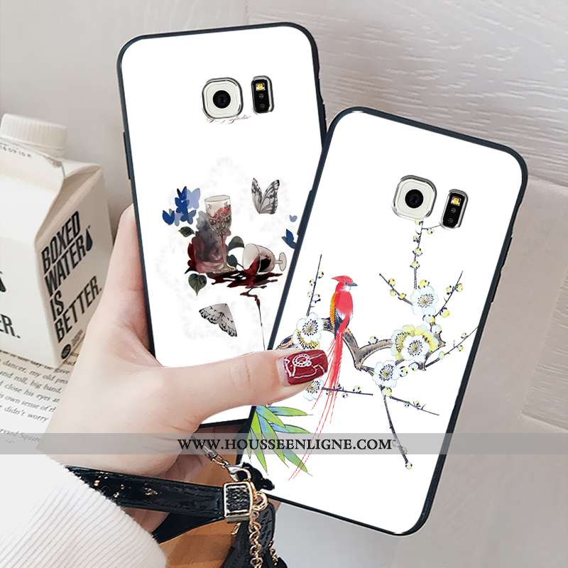 Coque Samsung Galaxy S6 Verre Personnalité Étui Tout Compris Incassable Téléphone Portable Créatif B
