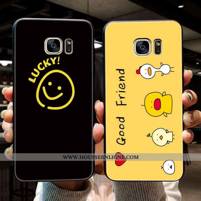 Coque Samsung Galaxy S7 Délavé En Daim Personnalité Tendance Silicone Jaune Incassable