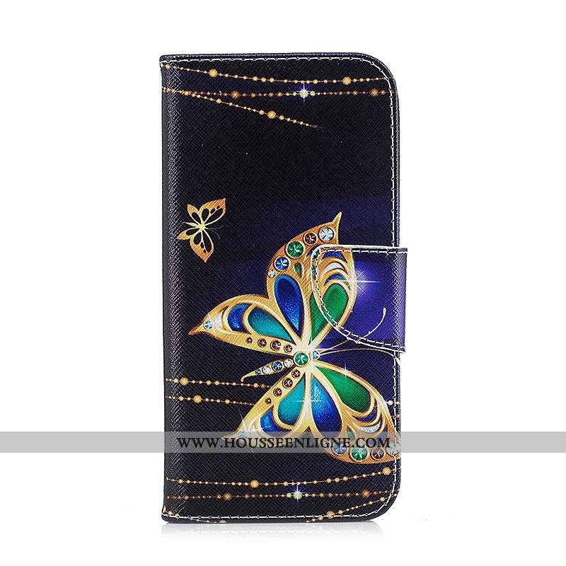 Coque Samsung Galaxy S7 Edge Protection Cuir Housse Noir Étui Peinture Téléphone Portable