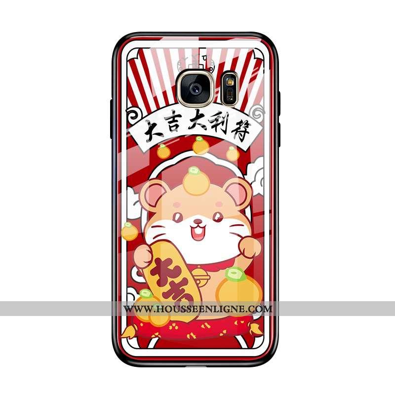 Coque Samsung Galaxy S7 Tendance Protection Incassable Téléphone Portable Dessin Animé Nouveau Rat R