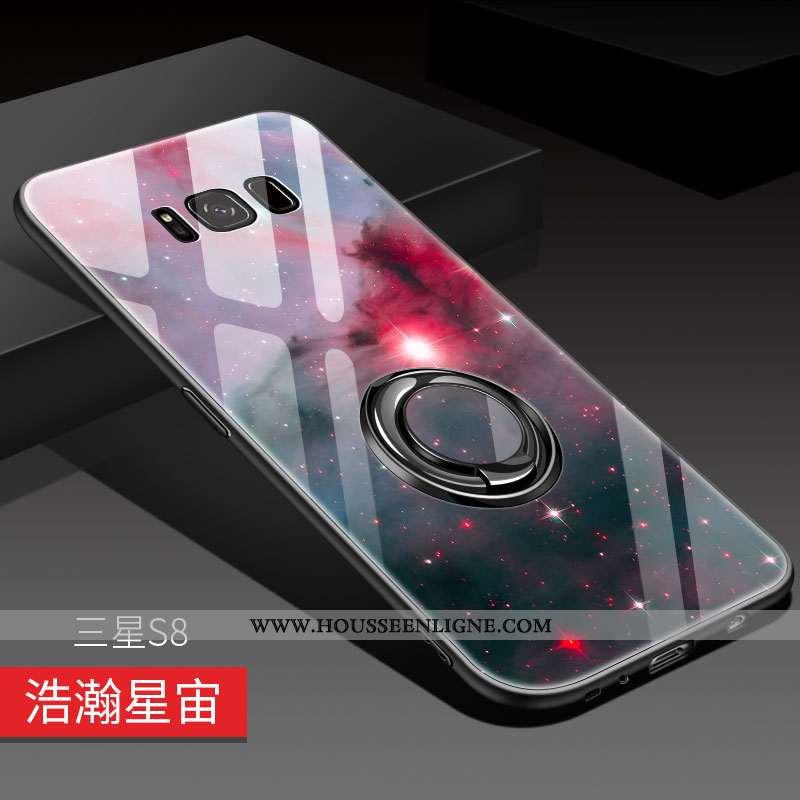 Coque Samsung Galaxy S8 Créatif Ultra Miroir Luxe Étoile Silicone Rouge