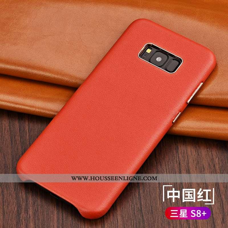 Coque Samsung Galaxy S8+ Cuir Véritable Ultra Business Luxe Nouveau Légère Étoile Rouge