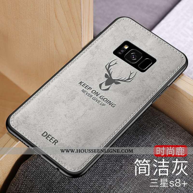 Coque Samsung Galaxy S8+ Fluide Doux Silicone Nouveau Simple Étoile Créatif Téléphone Portable Gris