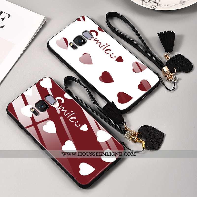 Coque Samsung Galaxy S8 Légère Fluide Doux Blanc Téléphone Portable Étoile Personnalité Net Rouge Bl