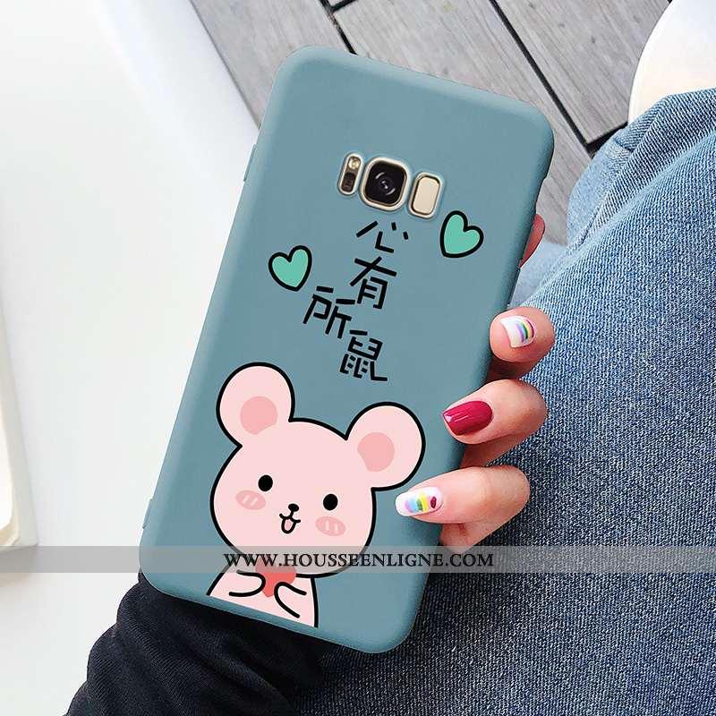 Coque Samsung Galaxy S8 Protection Délavé En Daim Amour Tendance Net Rouge Créatif Bleu