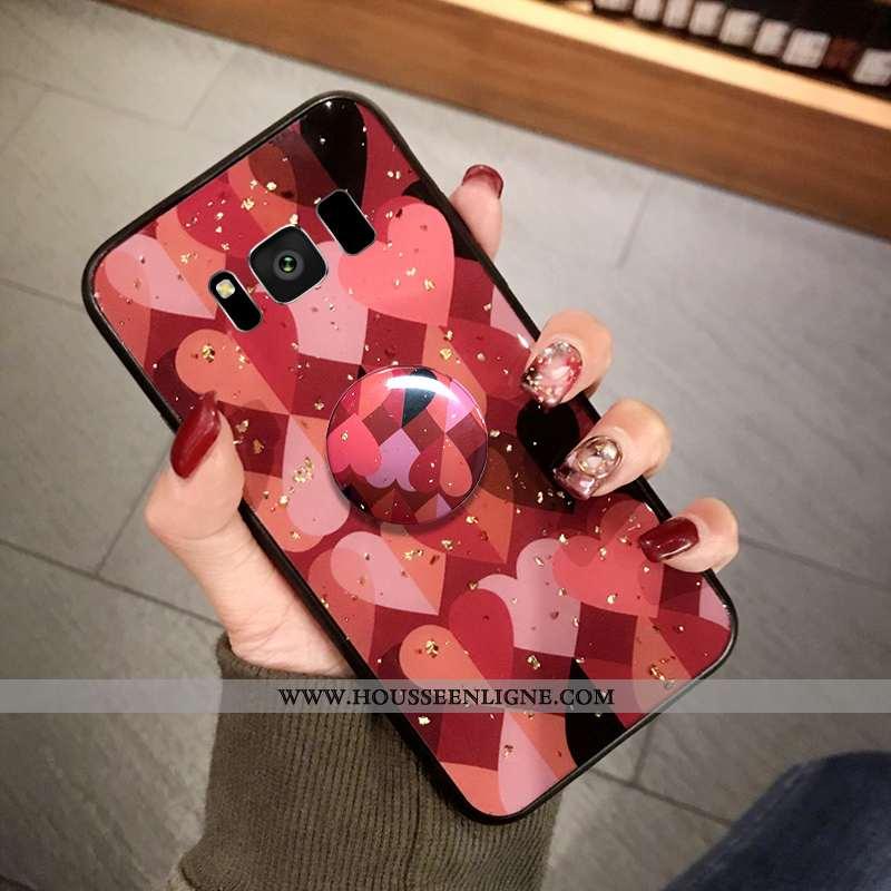 Coque Samsung Galaxy S8+ Protection Tendance Point D'onde Étui Fluide Doux Incassable Rouge
