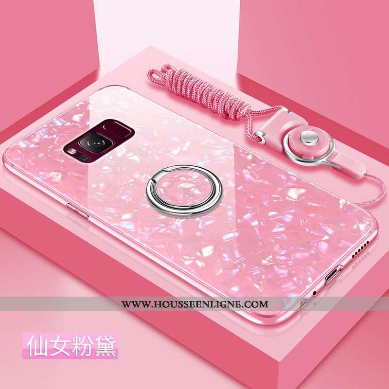 Coque Samsung Galaxy S8 Protection Verre Tout Compris Incassable Tendance Fluide Doux Rose