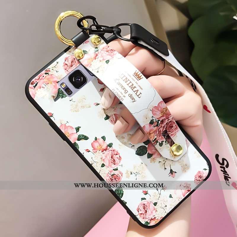 Coque Samsung Galaxy S8+ Tendance Fluide Doux Étoile Personnalité Blanc Tout Compris Blanche
