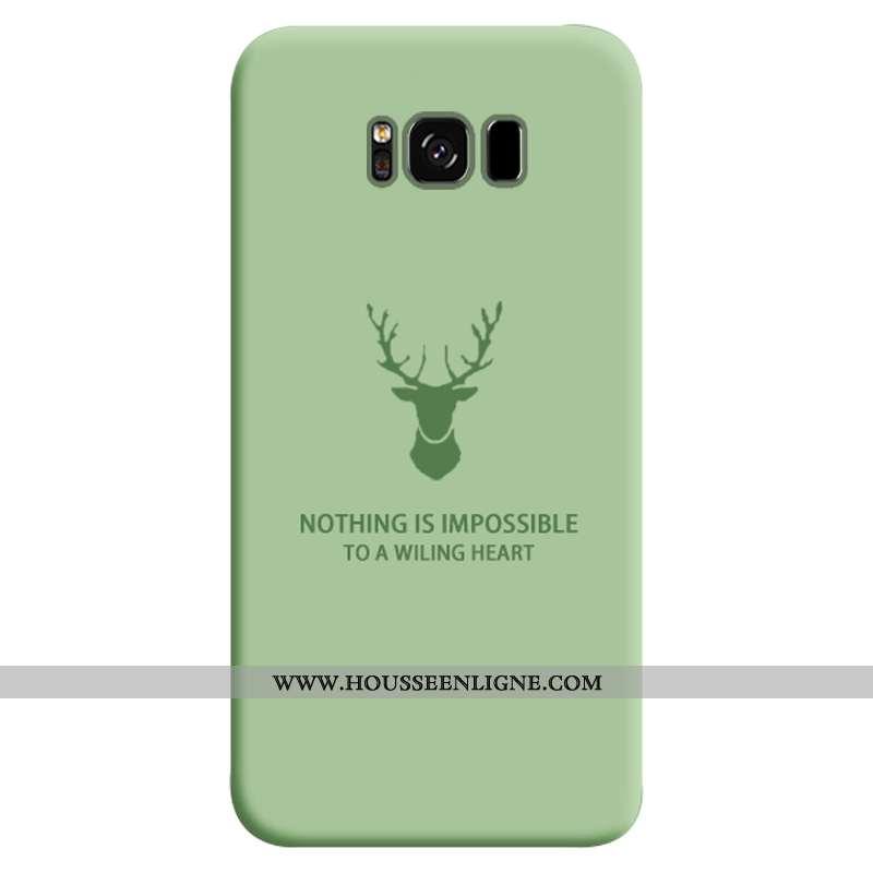 Coque Samsung Galaxy S8+ Tendance Fluide Doux Silicone Créatif Personnalité Incassable Étoile Verte
