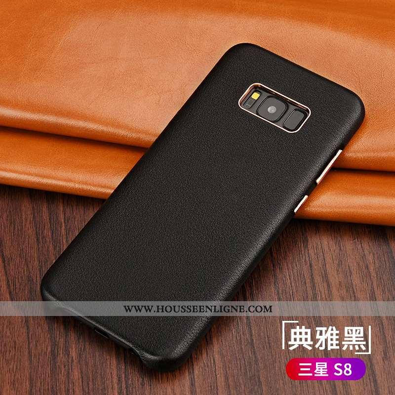 Coque Samsung Galaxy S8 Tendance Légère Nouveau Protection Luxe Téléphone Portable Noir