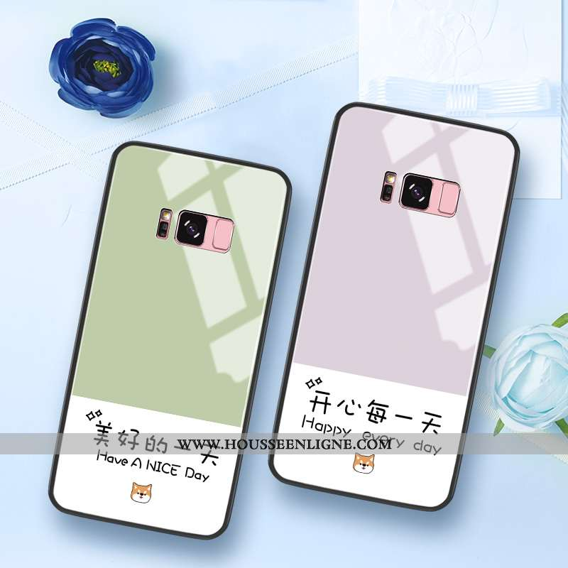 Coque Samsung Galaxy S8 Tendance Silicone Étoile Personnalité Difficile Protection Petit Verte
