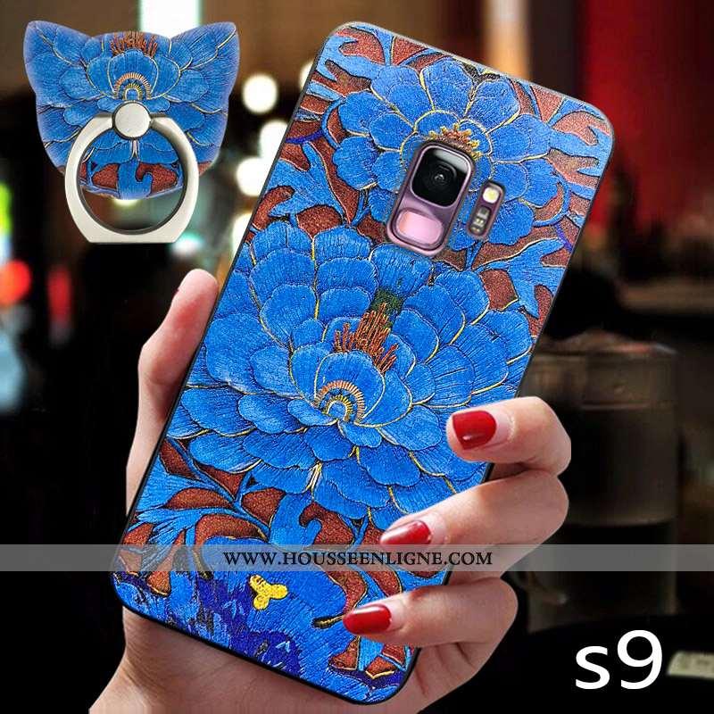 Coque Samsung Galaxy S9 Créatif Ultra Étoile Luxe Étui Nouveau Style Chinois Bleu