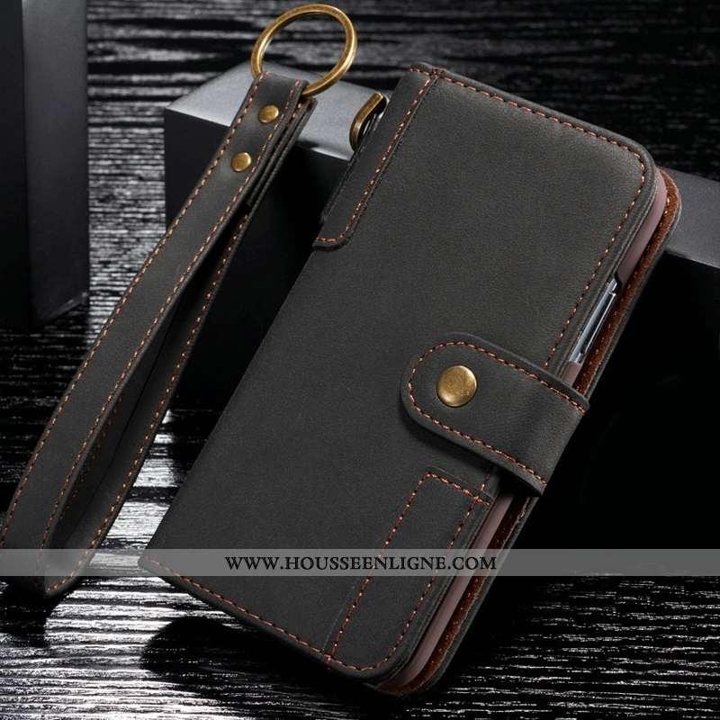 Coque Samsung Galaxy S9+ Cuir Véritable Étui Tout Compris Noir Luxe Pu Clamshell