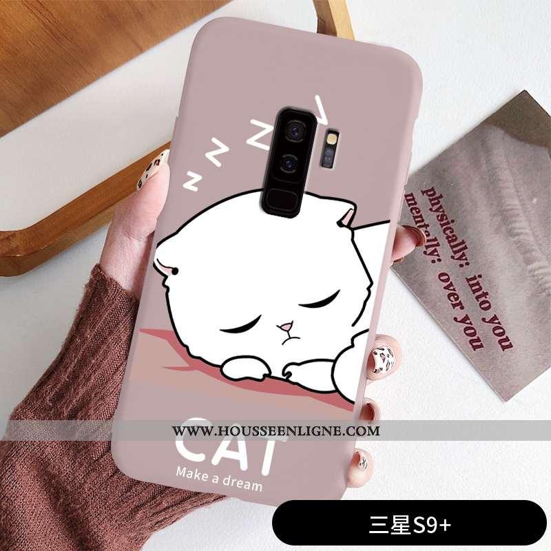 Coque Samsung Galaxy S9+ Dessin Animé Charmant Fluide Doux Incassable Créatif Personnalité Téléphone