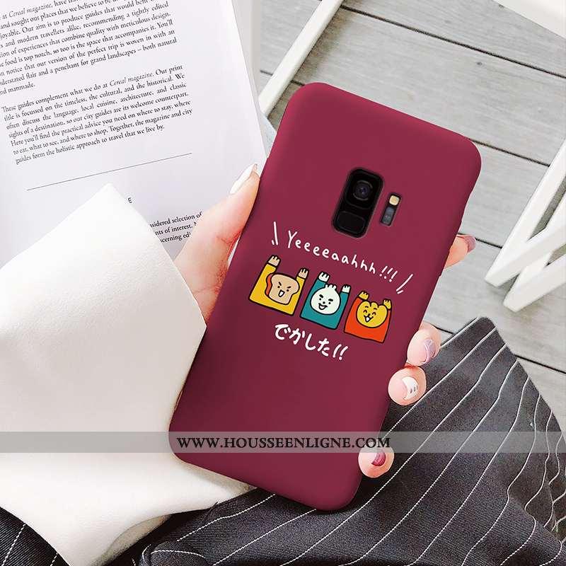 Coque Samsung Galaxy S9 Dessin Animé Charmant Tout Compris Vin Rouge Légère Fluide Doux Bordeaux