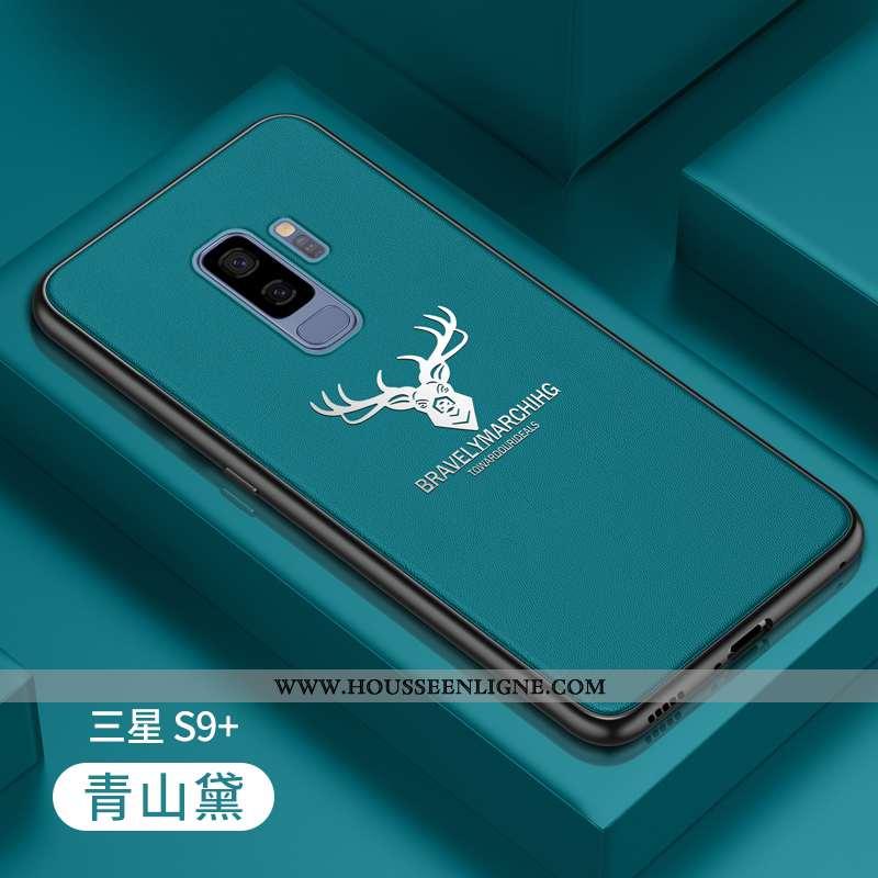 Coque Samsung Galaxy S9+ Fluide Doux Silicone Protection Personnalité Tout Compris Créatif Tendance