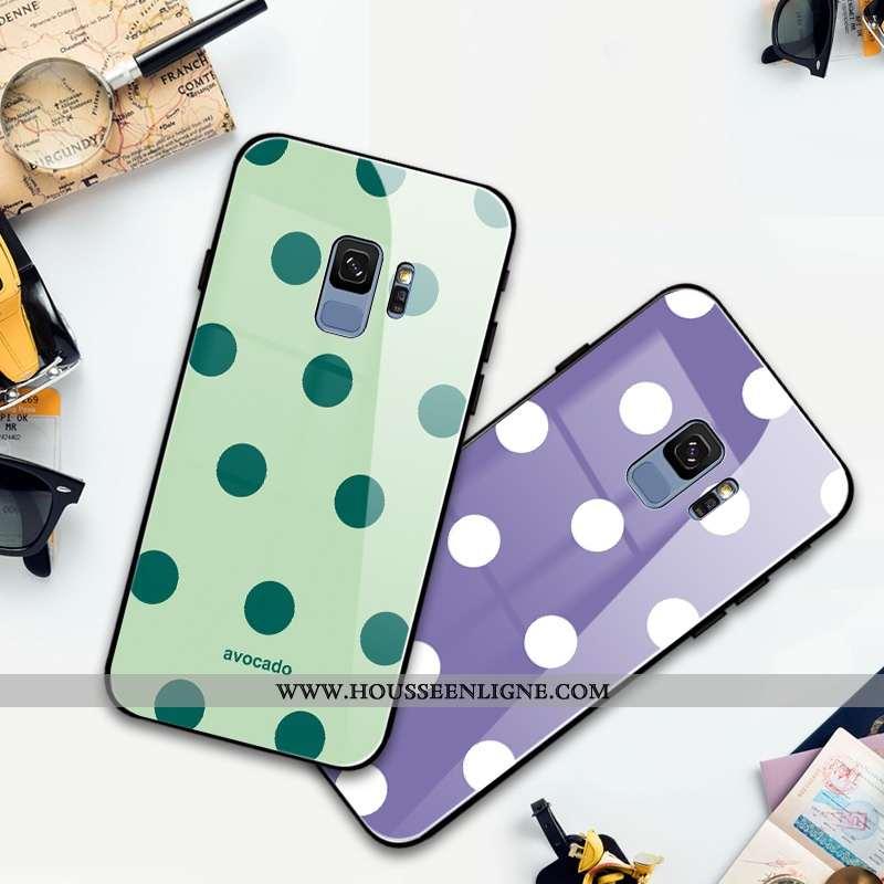 Coque Samsung Galaxy S9 Mode Protection Frais Silicone Clair Tout Compris Incassable Verte