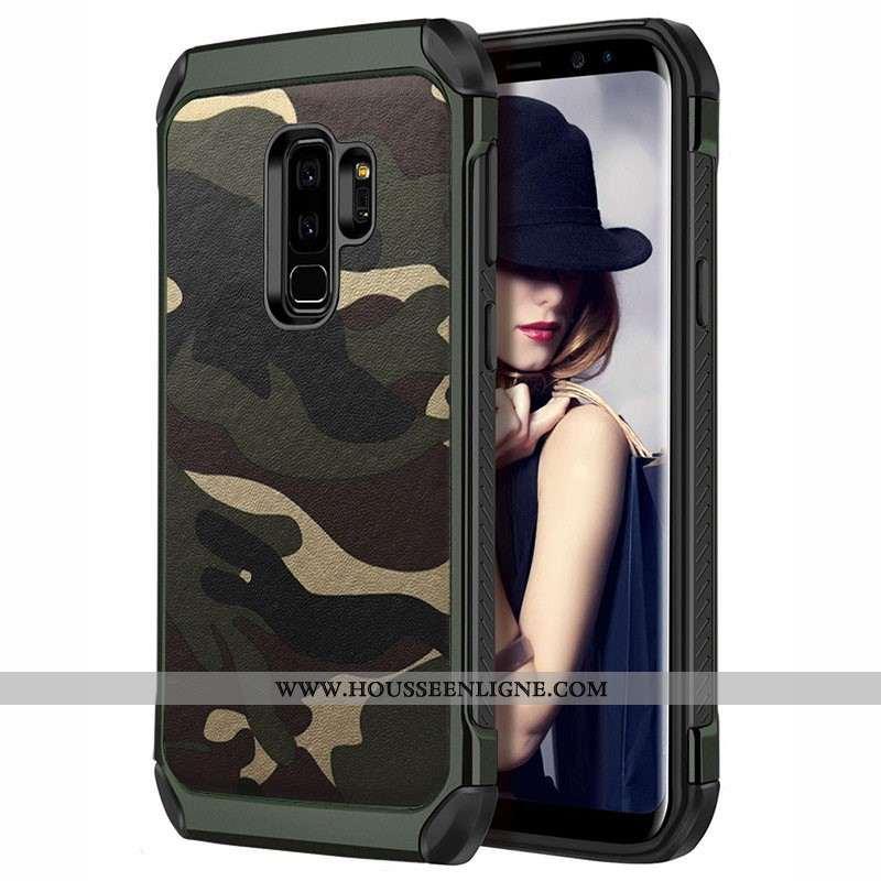 Coque Samsung Galaxy S9+ Personnalité Tendance Protection Vert Incassable Silicone Étoile Verte