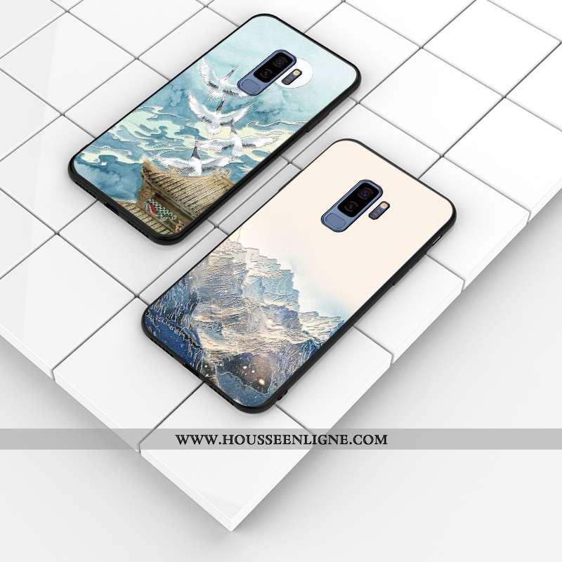 Coque Samsung Galaxy S9+ Protection Personnalité Téléphone Portable Gaufrage Incassable Étui Silicon