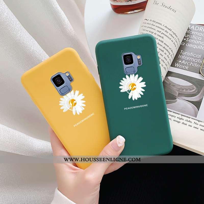 Coque Samsung Galaxy S9 Silicone Délavé En Daim Téléphone Portable Incassable Dragon Personnalité Ve