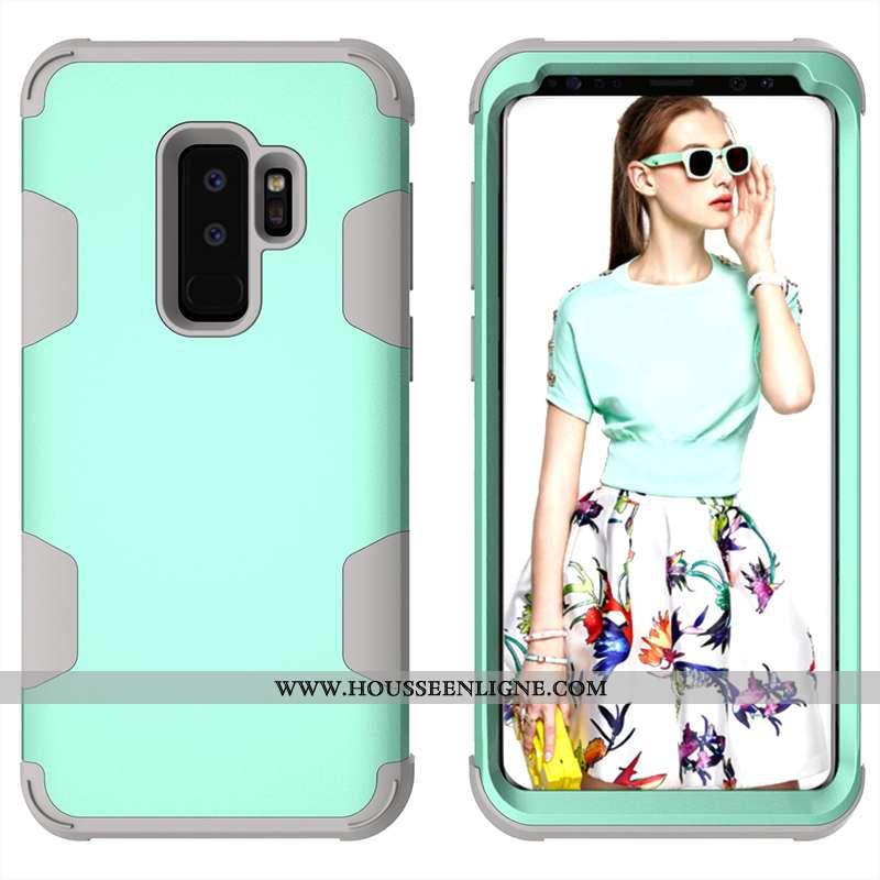 Coque Samsung Galaxy S9+ Silicone Protection Créatif Personnalité Téléphone Portable Tout Compris Ve