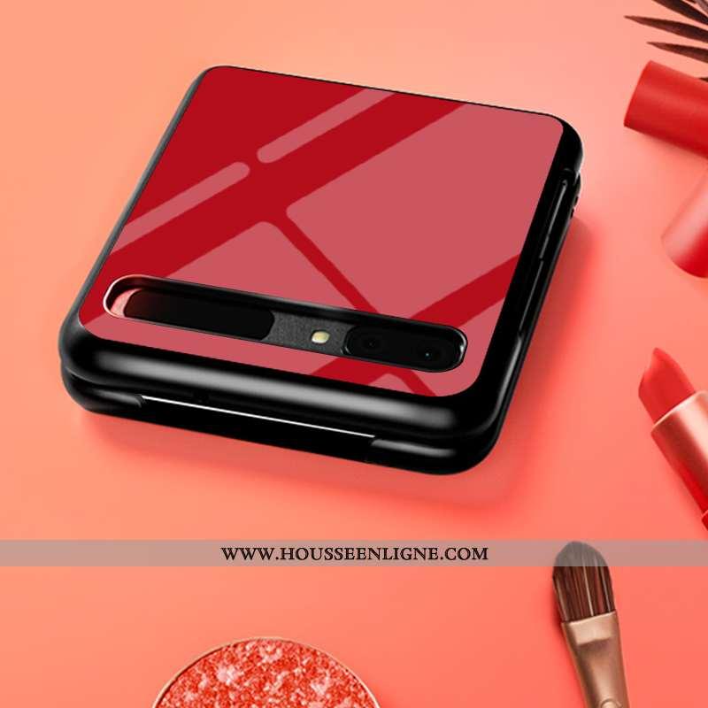 Coque Samsung Z Flip Créatif Dessin Animé Difficile Personnalisé Rouge Mode Téléphone Portable