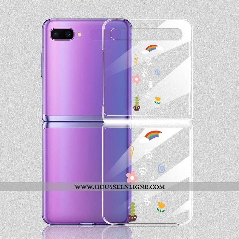 Coque Samsung Z Flip Légère Protection Plier Téléphone Portable Étoile Blanc Blanche