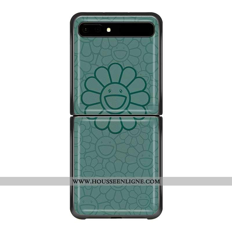 Coque Samsung Z Flip Personnalité Créatif Téléphone Portable Tendance Incassable Dessin Animé Verte