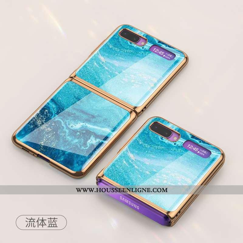 Coque Samsung Z Flip Protection Téléphone Portable Difficile Plier Bleu Tout Compris