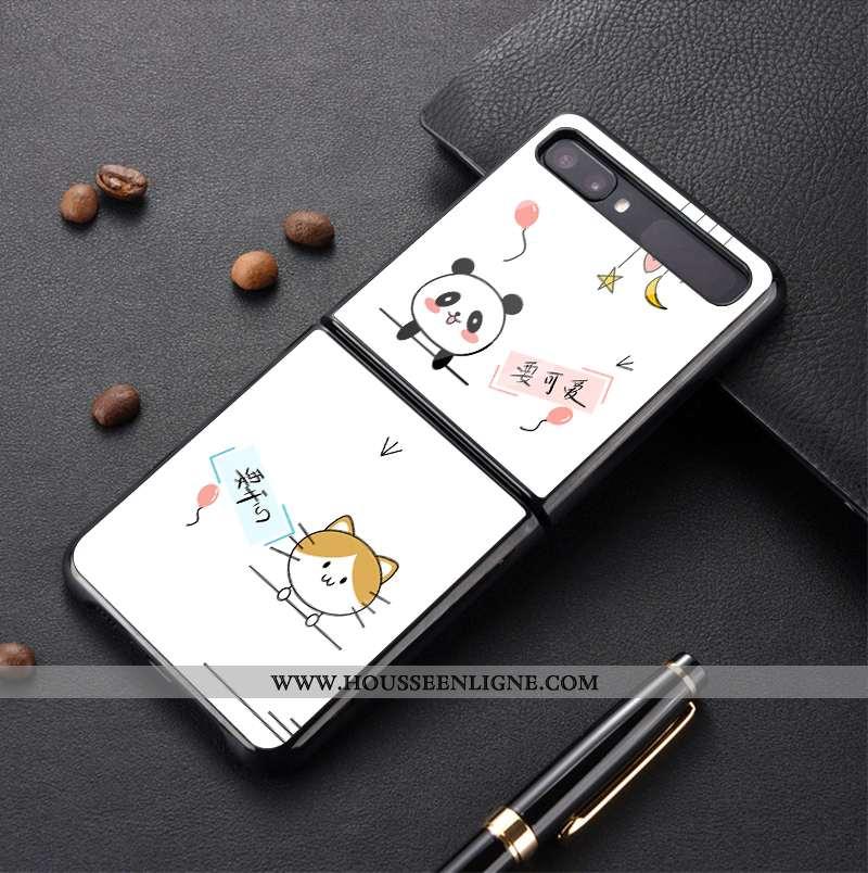 Coque Samsung Z Flip Protection Verre Blanc Incassable Étui Plier Téléphone Portable Blanche
