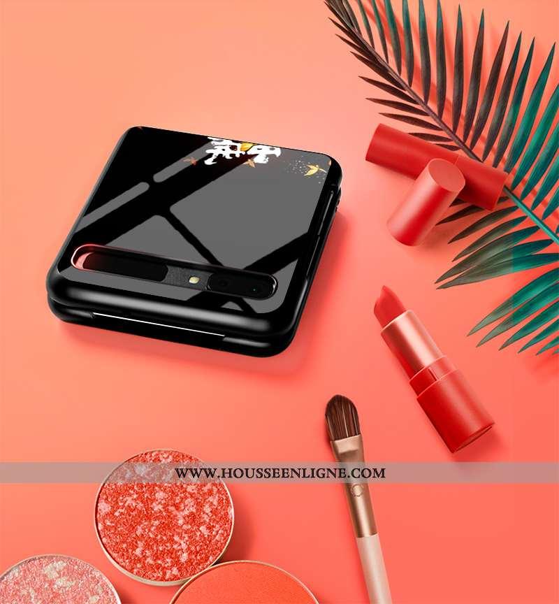 Coque Samsung Z Flip Protection Verre Nouveau Difficile Plier Étoile Amoureux Noir