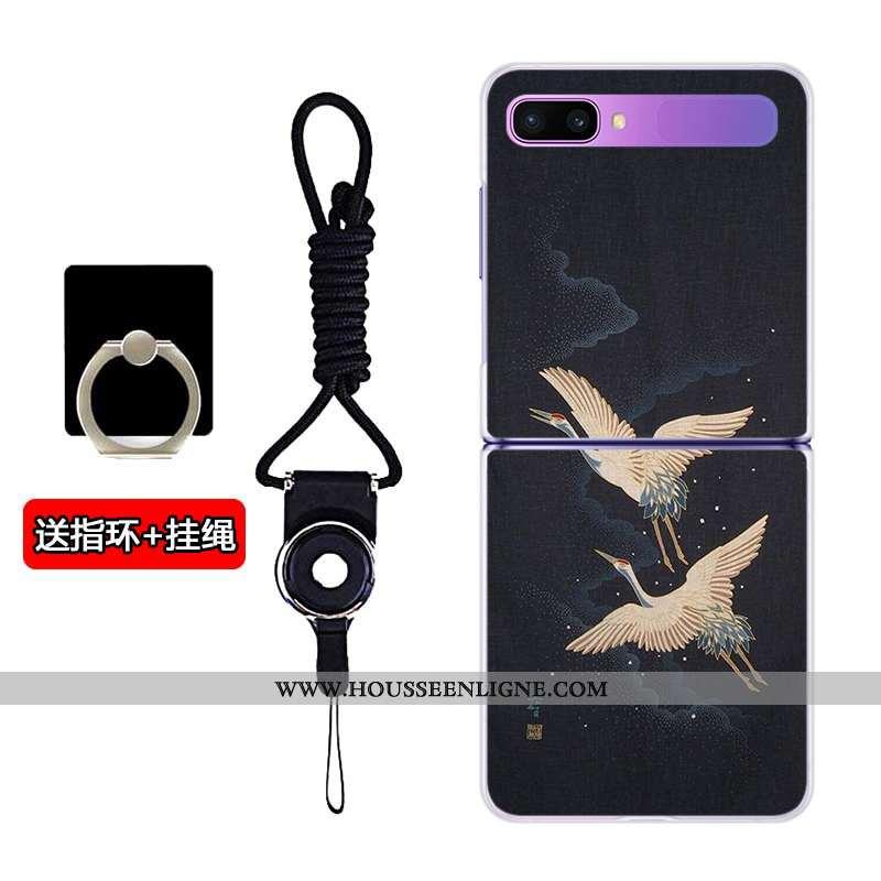 Coque Samsung Z Flip Transparent Dessin Animé Personnalisé Étoile Incassable Plier Téléphone Portabl