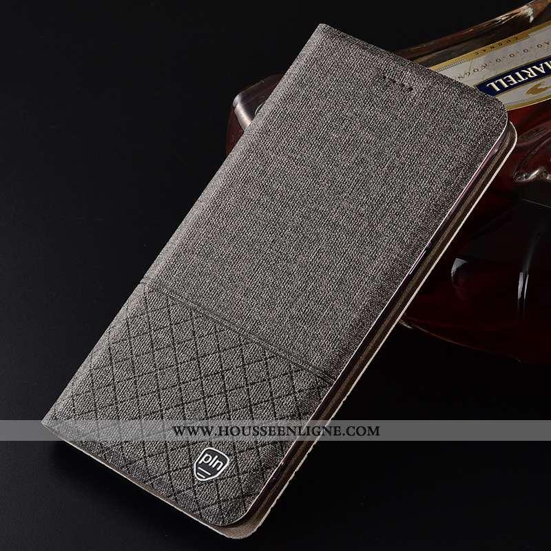Coque Sony Xperia 1 Protection Lin Téléphone Portable Gris Housse Étui