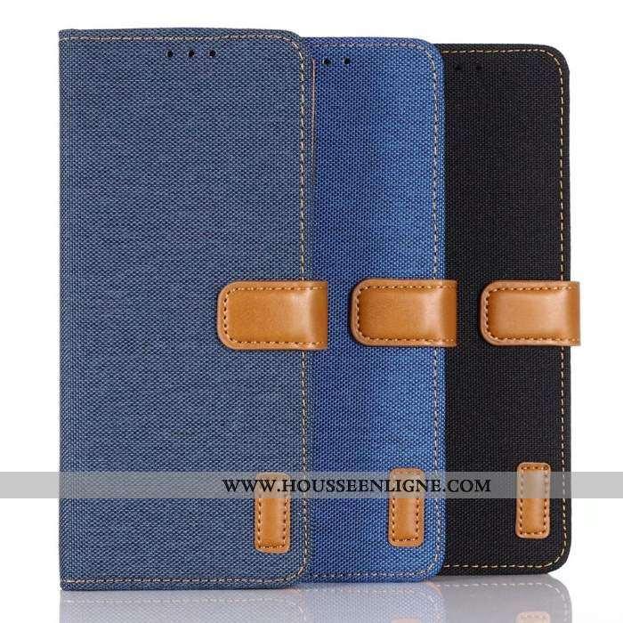 Coque Sony Xperia 10 Cuir Protection Étui Difficile Téléphone Portable Incassable Bleu