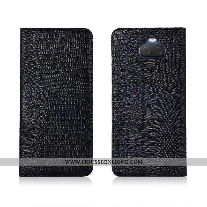 Coque Sony Xperia 10 Délavé En Daim Cuir Véritable Incassable Fluide Doux Protection Tout Compris Si
