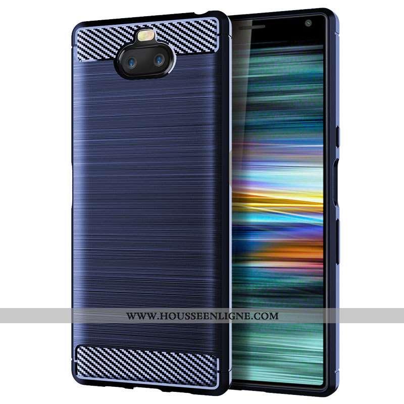 Coque Sony Xperia 10 Fluide Doux Protection Incassable Étui Téléphone Portable Tout Compris Bleu Mar
