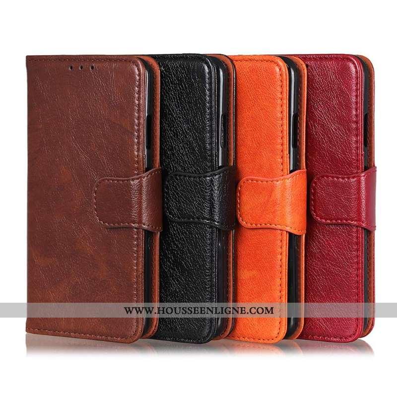 Coque Sony Xperia 10 Ii Modèle Fleurie Protection Nouveau Téléphone Portable Étui Marron